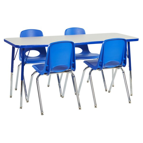 5 Piece Rectangular Activity Table & 16 Chair Set by ECR4kids