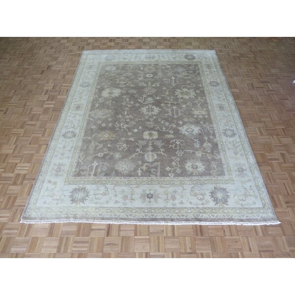 One-of-a-Kind Josephson Oushak Hand-Knotted Taupe Area Rug by Canora Grey