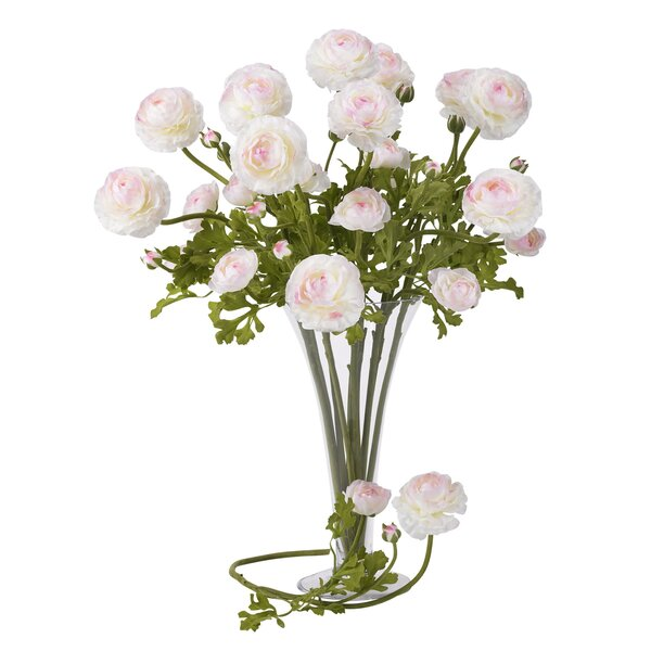 23 Ranunculus Floral Arrangements (Set of 12) by Nearly Natural