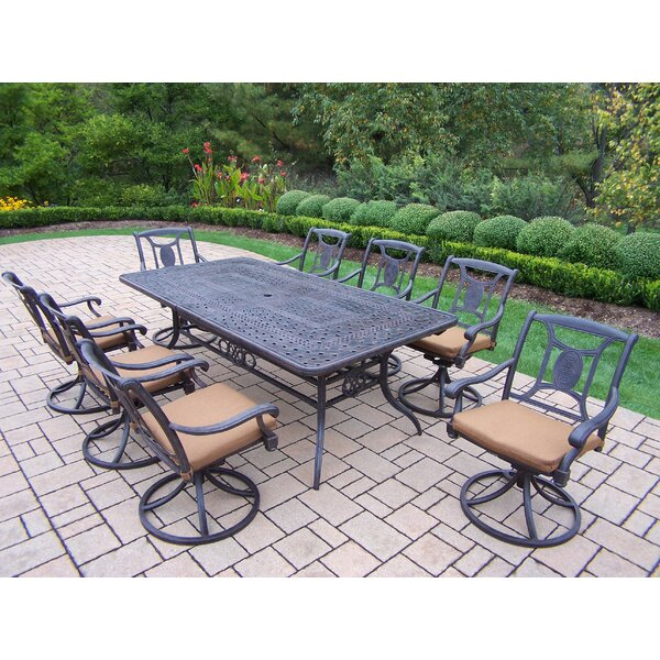 Zonia 9 Piece Dining Set with Cushions by Charlton Home