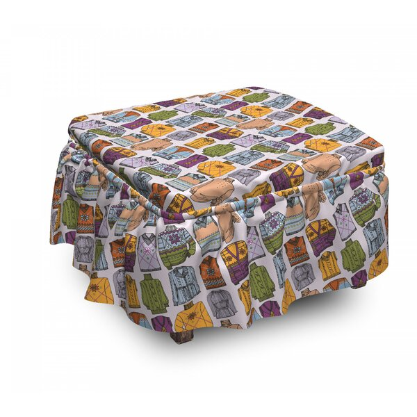 Women Winter Clothes Ottoman Slipcover (Set Of 2) By East Urban Home