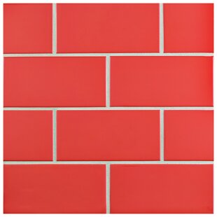 Prospect 3 X 6 Ceramic Subway Tile In Glossy Le Red