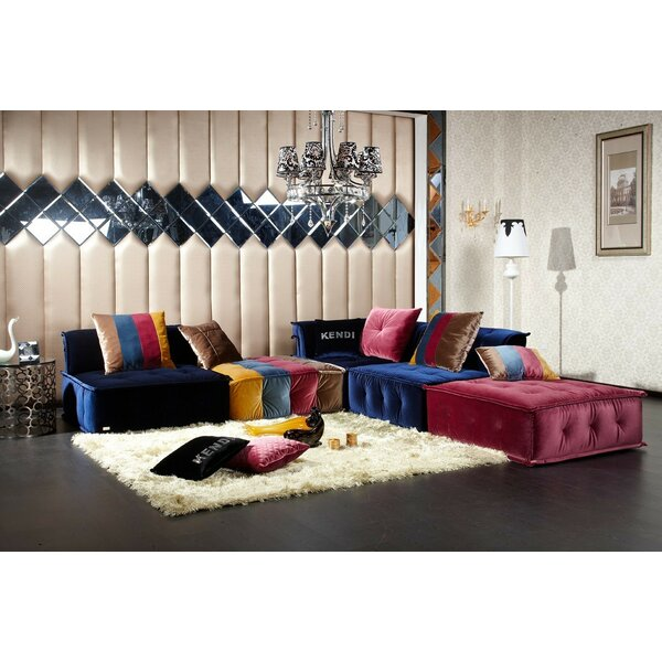 Aidy Modular Sectional with ottoman by Bungalow Ro