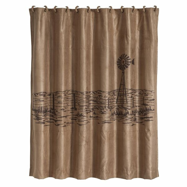Somerset Shower Curtain with Embroidered Landscape by Loon Peak