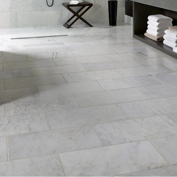 Carrara 12 x 24 Marble Look Wall & Floor Tile