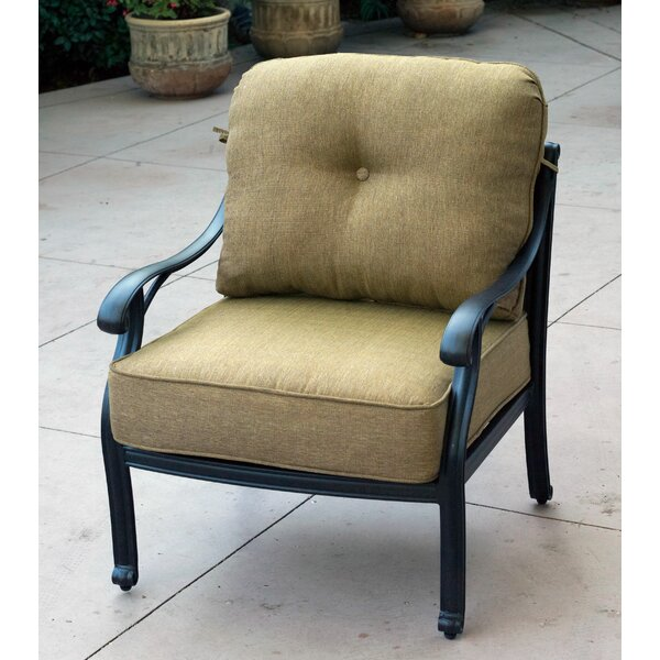 Lincolnville Deep Seating Patio Chair with Cushion by Fleur De Lis Living