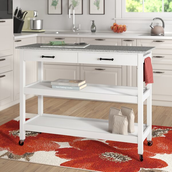 Lombard Kitchen Cart by Alcott Hill