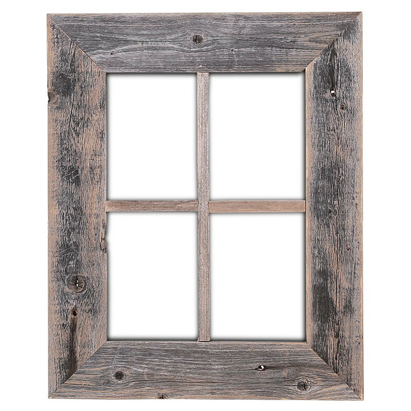 Old rustic barn window frame reviews birch lane for R rating for windows