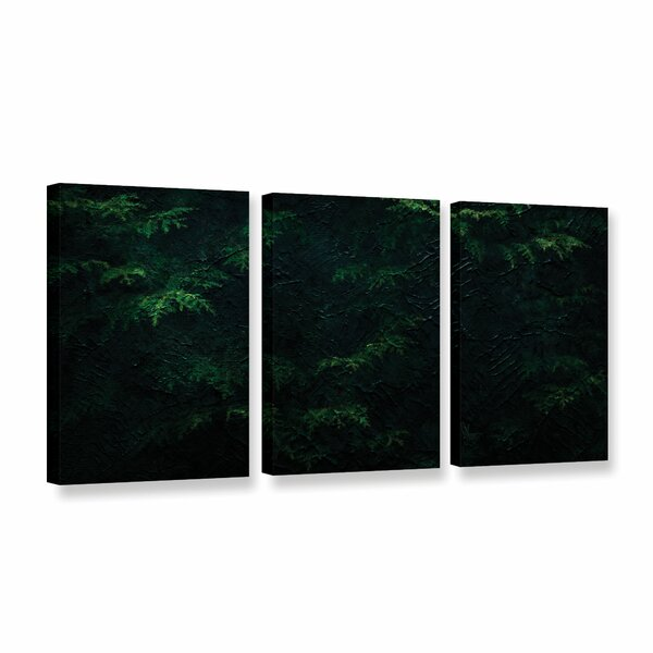 Green Leaf Grove 3 Piece Graphic Art on Wrapped Canvas Set by Bay Isle Home