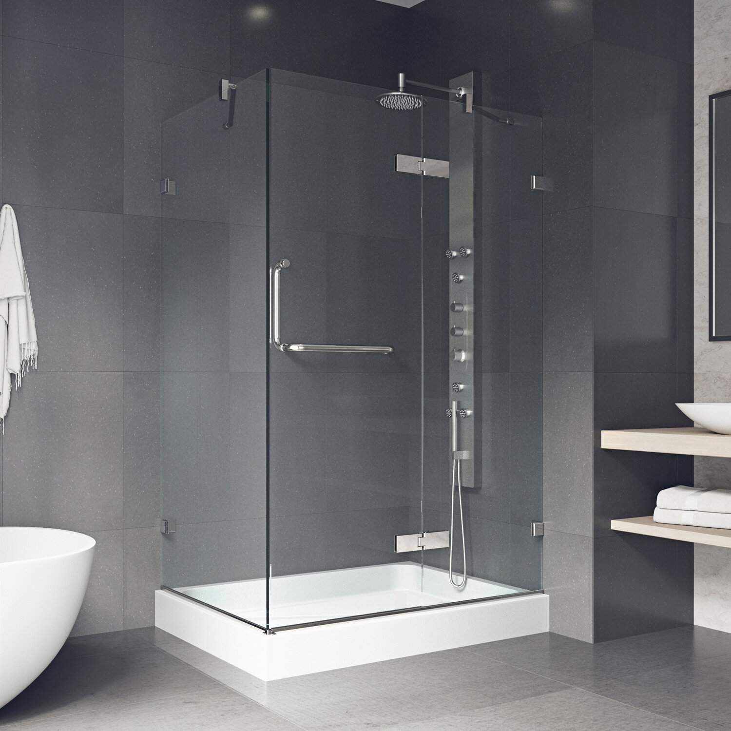 in tides shower king semi framed doors neo door at frameless angle adorable on vigo fascinating installations x foremost