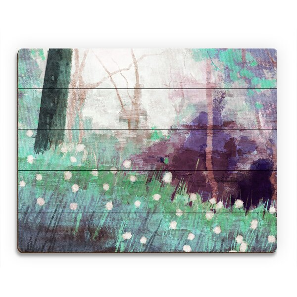 Dandelion Forest Painting Print on Plaque by Click Wall Art