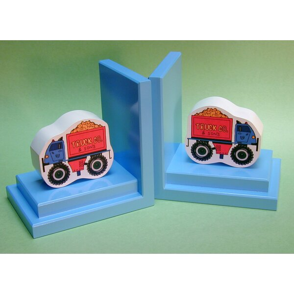 Big Wheel Truck Book Ends (Set of 2) by One World