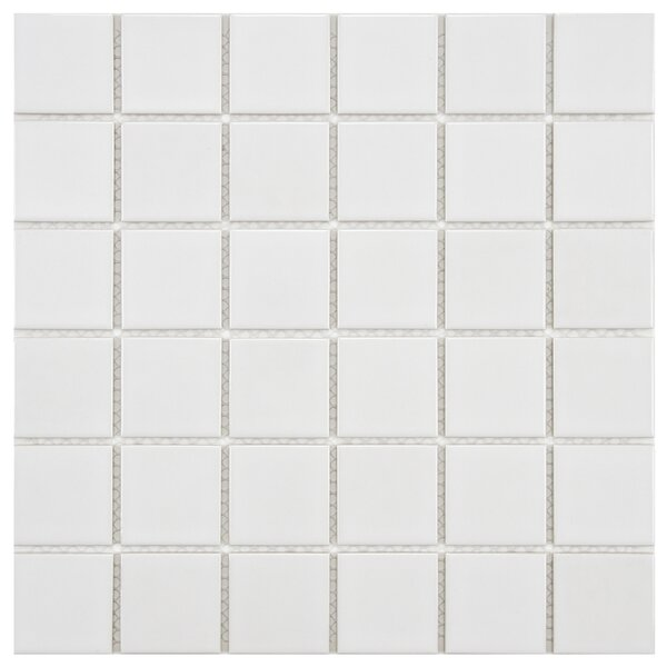 Arctic 2 x 2 Porcelain Mosaic Tile in White by EliteTile