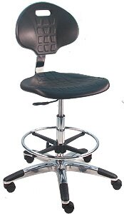 Eco-Friendly Cleanroom Lab Drafting Chair with Lumbar Support by Symple Stuff