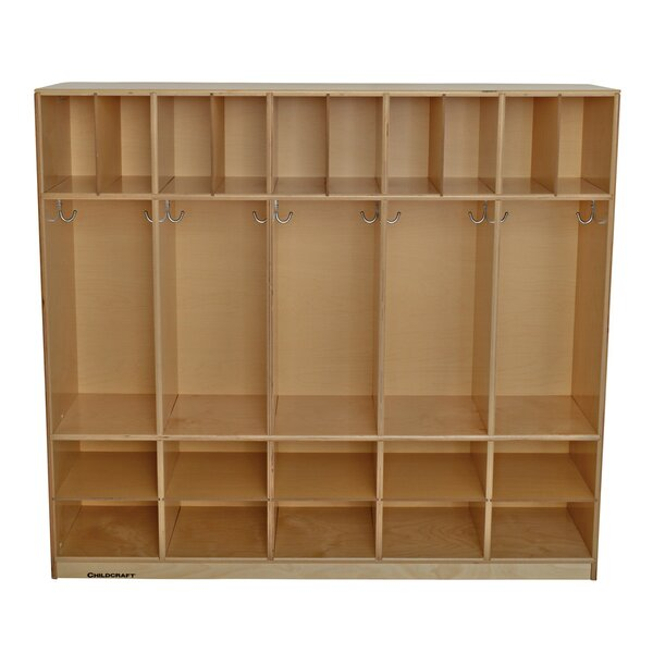 5 Section Coat Locker by Childcraft