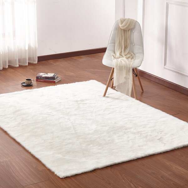 Margrett Hand-Tufted Off-White Area Rug by Mercer41