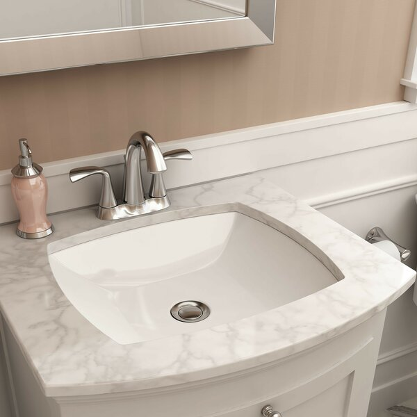 Edgemere Vitreous China Rectangular Undermount Bathroom Sink with Overflow by American Standard