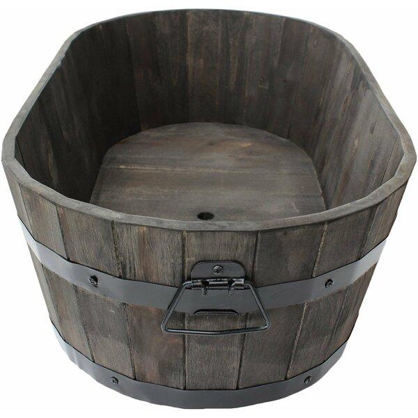 Dunadry Wood Barrel Pot Planter by Gracie Oaks