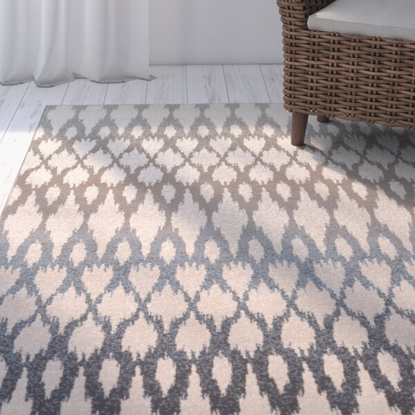 Rutland Hand-Woven Beige/Blue Area Rug by Beachcrest Home