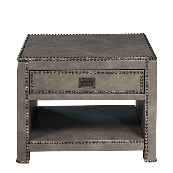 Cendrillon End Table with Storage by 17 Stories