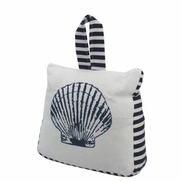 Seashell Sandbag Door Stop by Handcrafted Nautical Decor