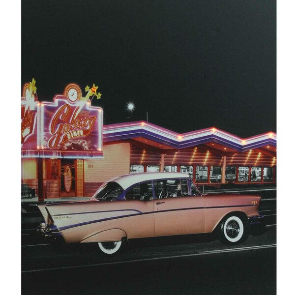 Classic Car Battery Operated LED Photographic Print on Canvas by Northlight Seasonal