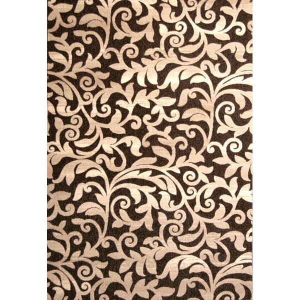 Estella Chocolate/Ivory Area Rug by Alcott Hill