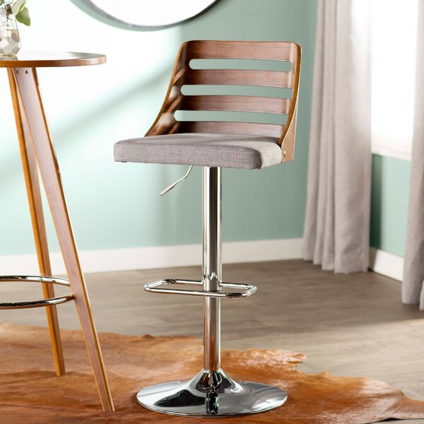 Caesar Adjustable Height Swivel Bar Stool by Langley Street