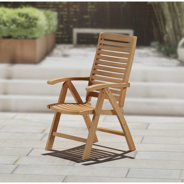 Guillory Folding Patio Dining Chair by Highland Dunes