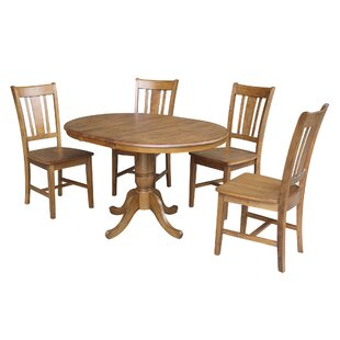 Alaska 5 Piece Extendable Solid Wood Dining Set By Alcott Hill