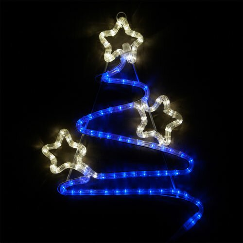 Swirl Christmas Tree Lighted Display by The Holiday Aisle