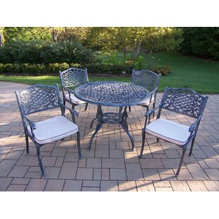 Tea Rose 5 Piece Dining Set with Cushions ByOakland Living
