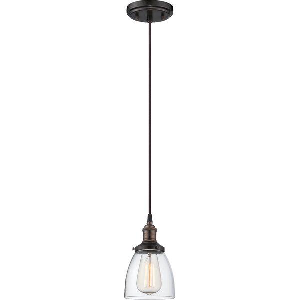 Sandy Springs 1-Light Cone Pendant by Laurel Found