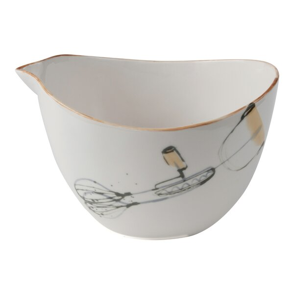 Watercolor Ceramic Mixing Bowl by Floor 9