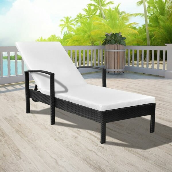 Verret Reclining Chaise Lounge with Cushions by Highland Dunes Highland Dunes
