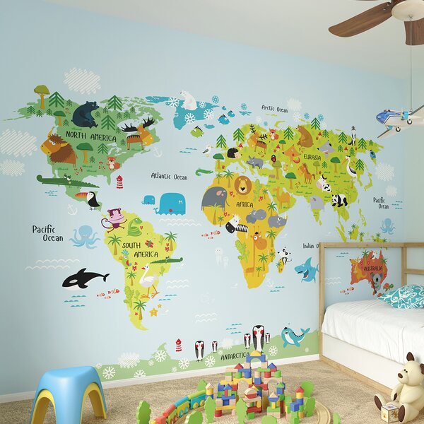 The Whole Wide World Wall Mural by Brewster Home Fashions