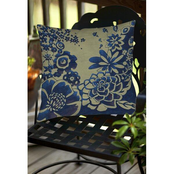 Kyoto Garden 3 Indoor/Outdoor Throw Pillow by Manual Woodworkers & Weavers