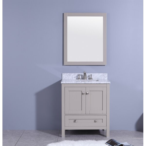 Bluff 31 Single Bathroom Vanity Set with Mirror by Winston Porter