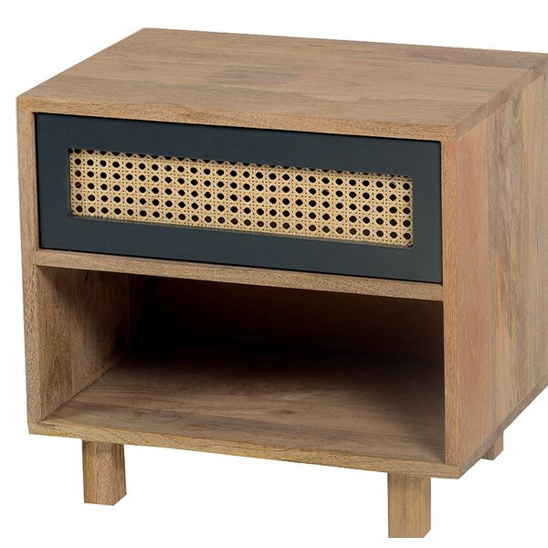Rexdale 1 Drawer Nightstand by World Menagerie