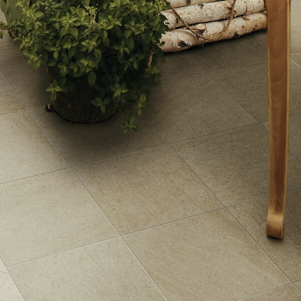Storm 12 x 12 Porcelain Field Tile in Chardonnay by PIXL