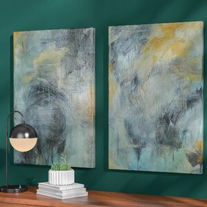 Tranquility 2 Pieces Painting Print on Canvas Set
