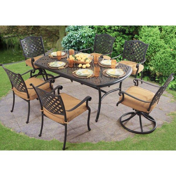 Largemont 7 Piece Dining Set with Cushions by Sunjoy