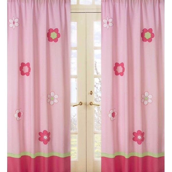Flower Nature/Floral Semi-Sheer Rod pocket Curtain Panels (Set of 2) by Sweet Jojo Designs