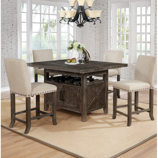 Shackleford 5 Piece Counter Height Dining Set by Gracie Oaks Gracie Oaks