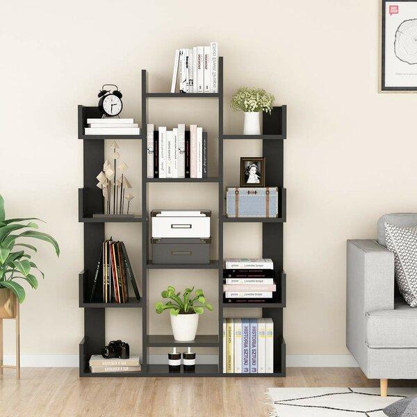 Havard 12 Shelf Geometric Bookcase by Ebern Designs