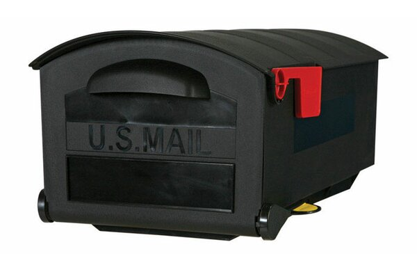 12 in x 9.5 in Plastic Post Mounted Mailbox by Gibraltar Mailboxes