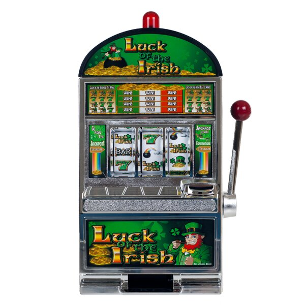 Luck of the Irish Slot Machine Bank by Trademark Global