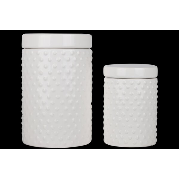 2 Piece Kitchen Canister Set (Set of 2) by Breakwater Bay