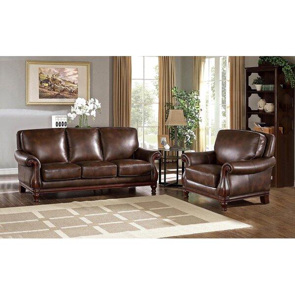 Autumn Leather 2 Piece Living Room Set by Fleur De Lis Living