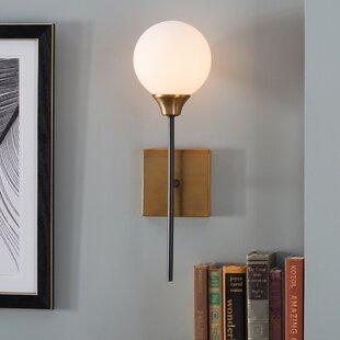 Sconces youll love wayfair bautista 1 light wall sconce aloadofball Image collections